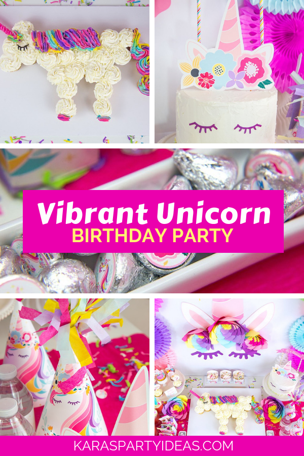 Vibrant Unicorn Birthday Party via Kara's Party Ideas - KarasPartyIdeas.com