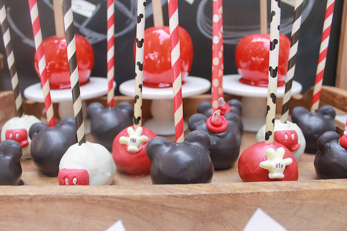 Mickey Mouse Cake Pops from a Vintage Mickey Mouse Birthday Party on Kara's Party Ideas | KarasPartyIdeas.com (13)