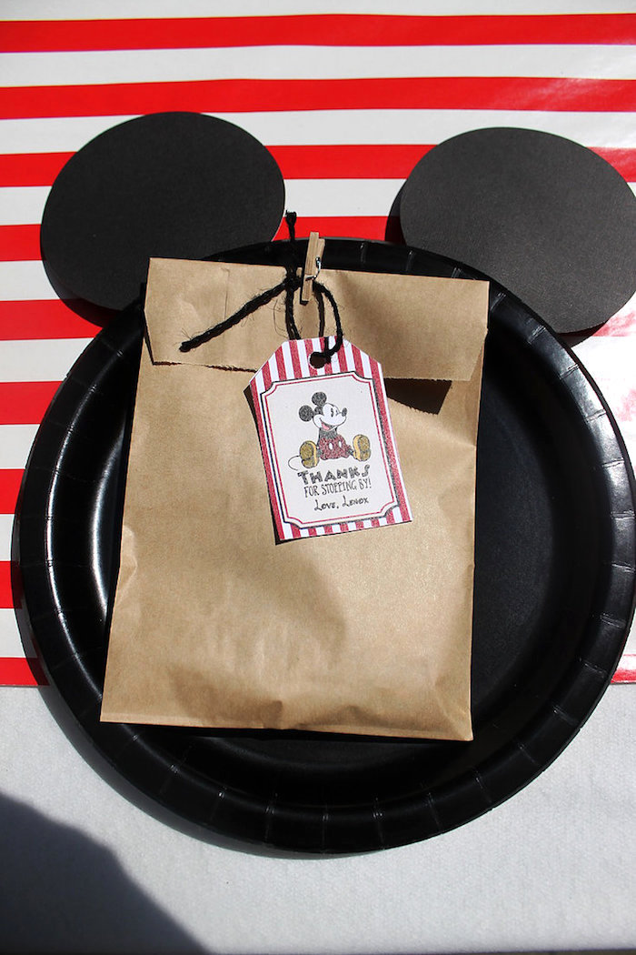 Mickey Mouse Table Setting from a Vintage Mickey Mouse Birthday Party on Kara's Party Ideas | KarasPartyIdeas.com (23)