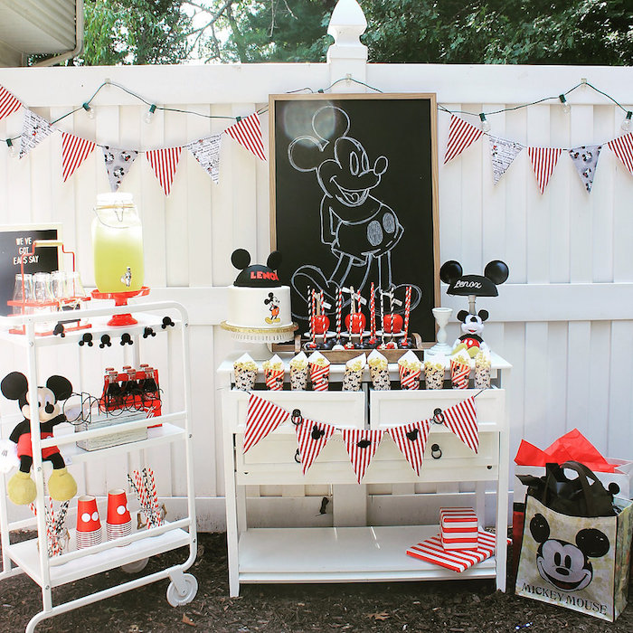 Vintage Mickey Mouse Birthday Party on Kara's Party Ideas | KarasPartyIdeas.com (22)