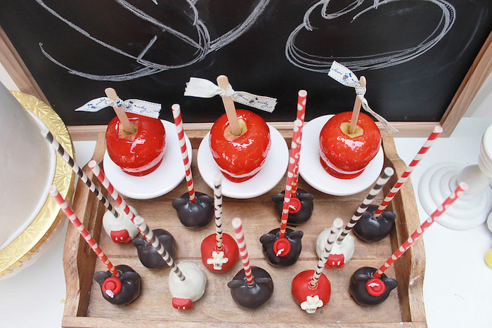 Mickey Mouse Cake Pops & Candy Apples from a Vintage Mickey Mouse Birthday Party on Kara's Party Ideas | KarasPartyIdeas.com (20)