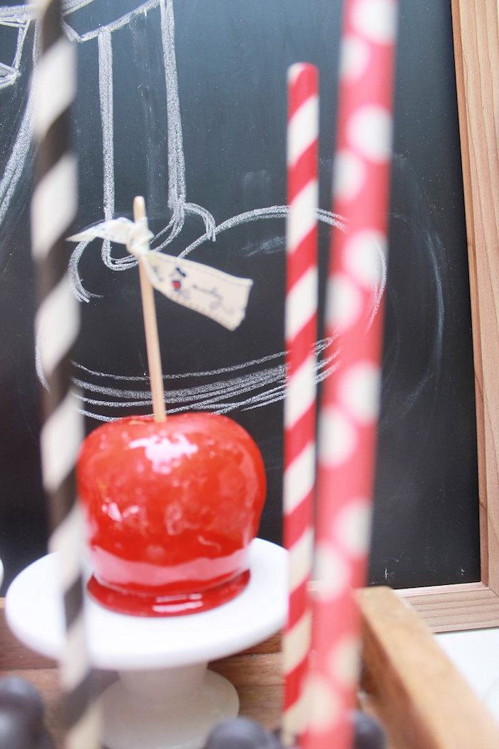 Candied Apple from a Vintage Mickey Mouse Birthday Party on Kara's Party Ideas | KarasPartyIdeas.com (18)