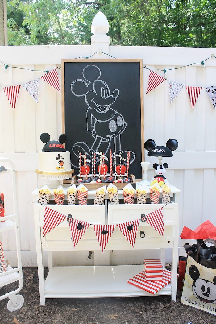 Vintage Mickey Mouse Birthday Party on Kara's Party Ideas | KarasPartyIdeas.com (16)