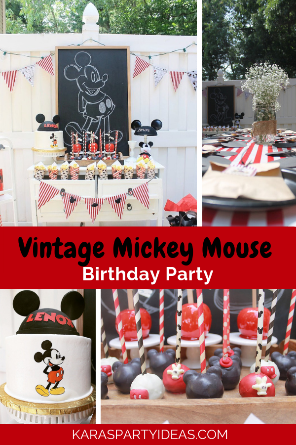 Vintage Mickey Mouse Birthday Party via Kara's Party Ideas - KarasPartyIdeas.com