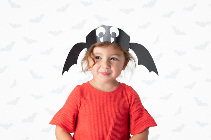 Bat Hat - DIY Halloween Hats for Kids- FREE Tutorials & Patterns on Kara's Party Ideas | KarasPartyIdeas.com