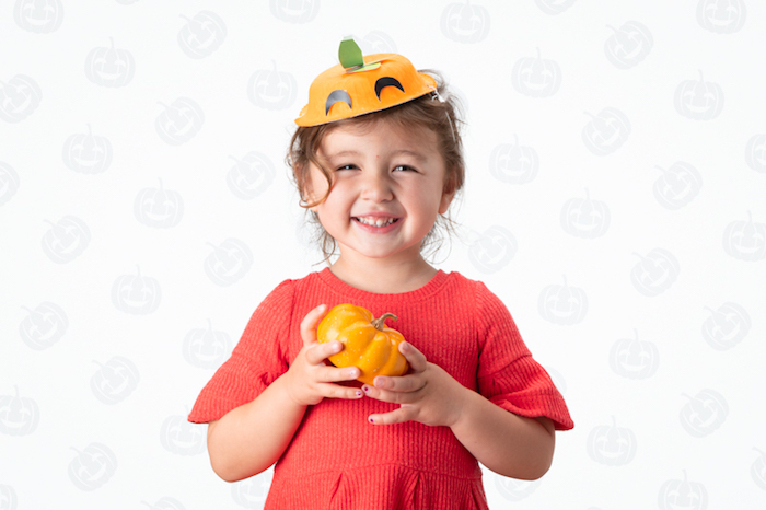 Pumpkin Hat - DIY Halloween Hats for Kids- FREE Tutorials & Patterns on Kara's Party Ideas | KarasPartyIdeas.com