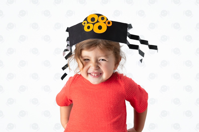 Spider Hat - DIY Halloween Hats for Kids- FREE Tutorials & Patterns on Kara's Party Ideas | KarasPartyIdeas.com