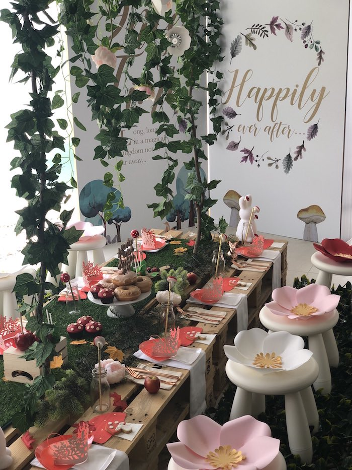 """Once Upon A Time"" Woodland Forest Birthday Party on Kara's Party Ideas 