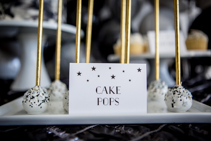 """Moon/Space- inspired Cake Pops from a """"Shoot for the Moon"""" Birthday Party on Kara's Party Ideas 