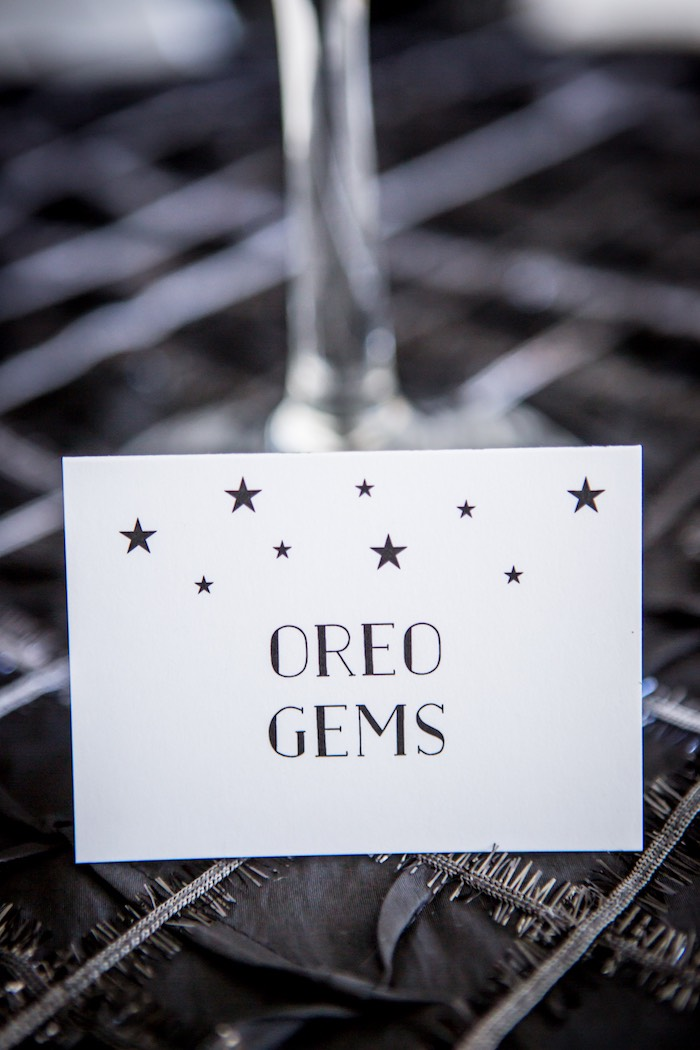 """Star Printed Sweet Label from a """"Shoot for the Moon"""" Birthday Party on Kara's Party Ideas 