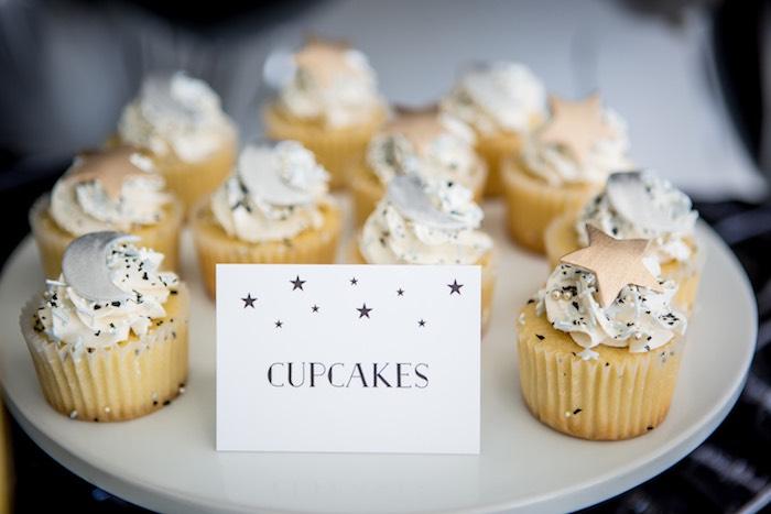 "Moon & Star Cupcakes from a ""Shoot for the Moon"" Birthday Party on Kara's Party Ideas | KarasPartyIdeas.com (10)"