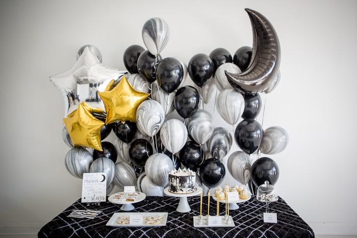 "Moon Themed Dessert Table from a ""Shoot for the Moon"" Birthday Party on Kara's Party Ideas | KarasPartyIdeas.com (8)"