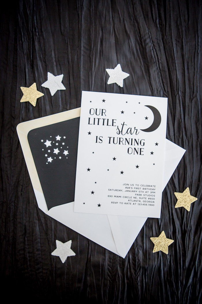 Moon Inspired Party Invite From A Shoot For The Birthday On