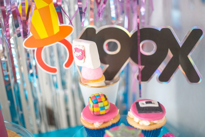 90's Cupcakes from a 90's Themed Birthday Party on Kara's Party Ideas | KarasPartyIdeas.com (11)
