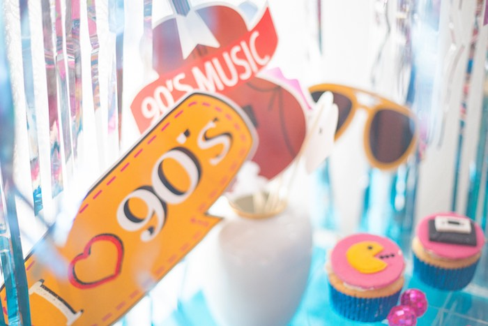 90's Signage from a 90's Themed Birthday Party on Kara's Party Ideas | KarasPartyIdeas.com (9)