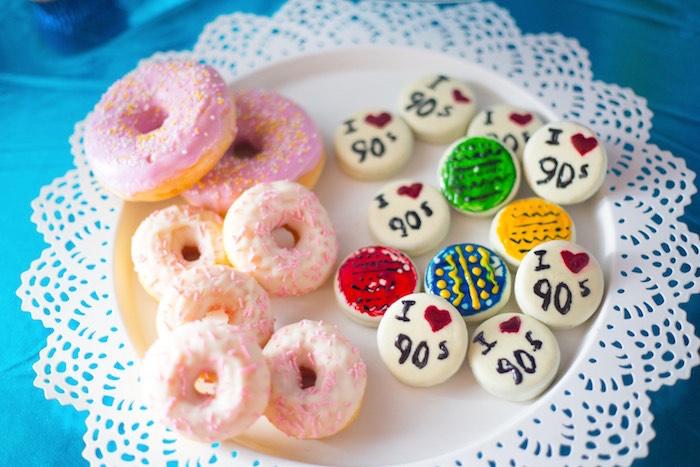 I Heart 90's Macarons + Doughnuts + Cookies from a 90's Themed Birthday Party on Kara's Party Ideas | KarasPartyIdeas.com (20)