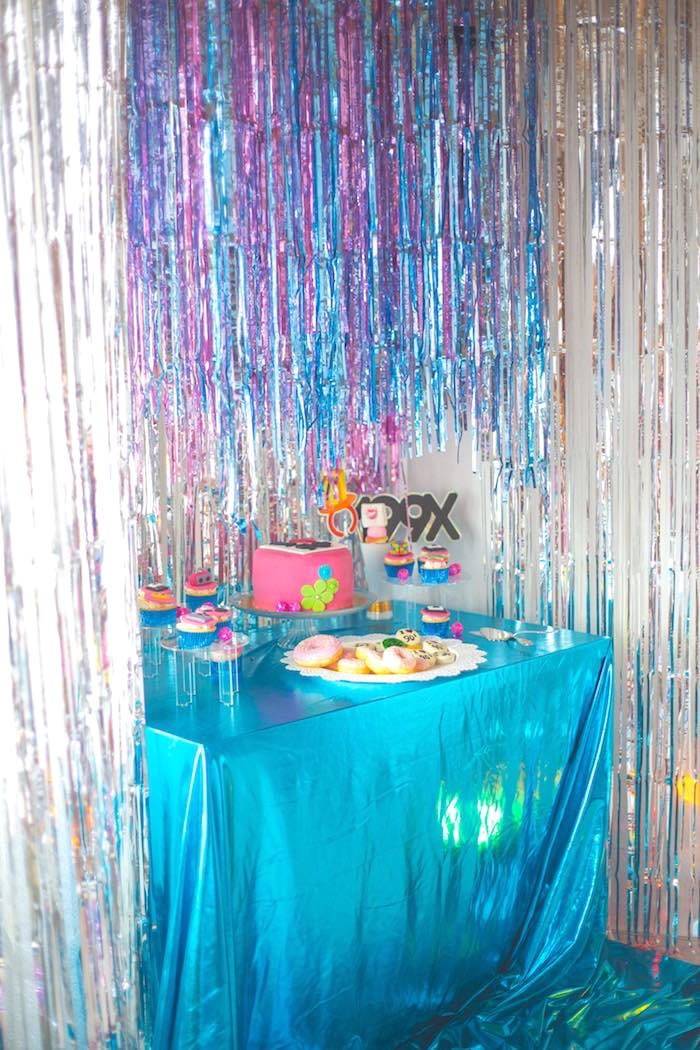 90's Party Table from a 90's Themed Birthday Party on Kara's Party Ideas | KarasPartyIdeas.com (14)