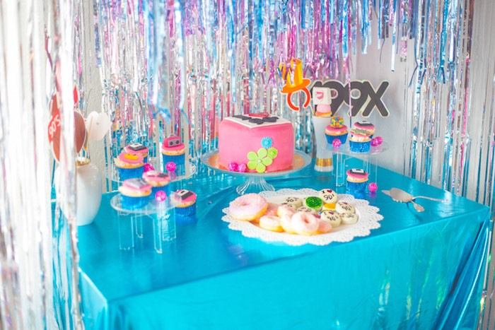 90's Party Table from a 90's Themed Birthday Party on Kara's Party Ideas | KarasPartyIdeas.com (13)