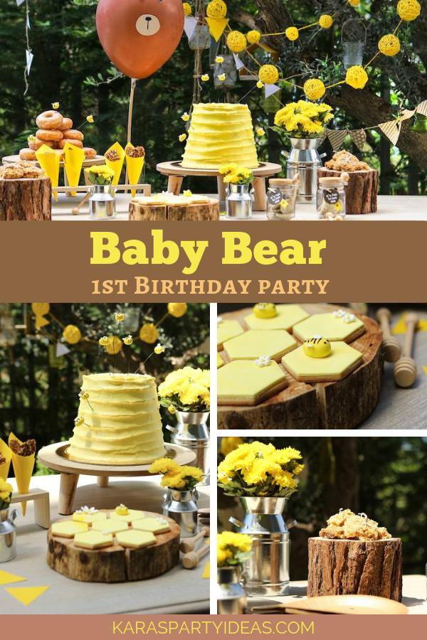 Baby Bear 1st Birthday Party via Kara's Party Ideas - KarasPartyIdeas.com