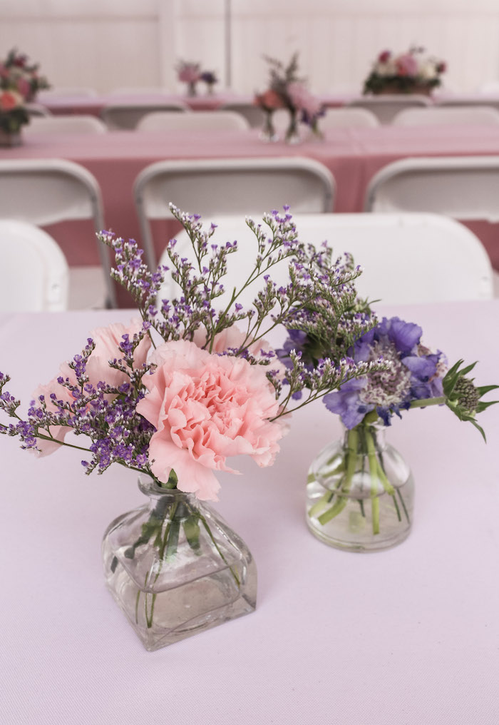 Simplistic Floral Centerpieces from a Beauty Boutique Garden Party on Kara's Party Ideas | KarasPartyIdeas.com (16)