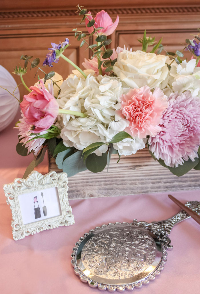 Lipstick Print + Table Decor from a Beauty Boutique Garden Party on Kara's Party Ideas | KarasPartyIdeas.com (22)