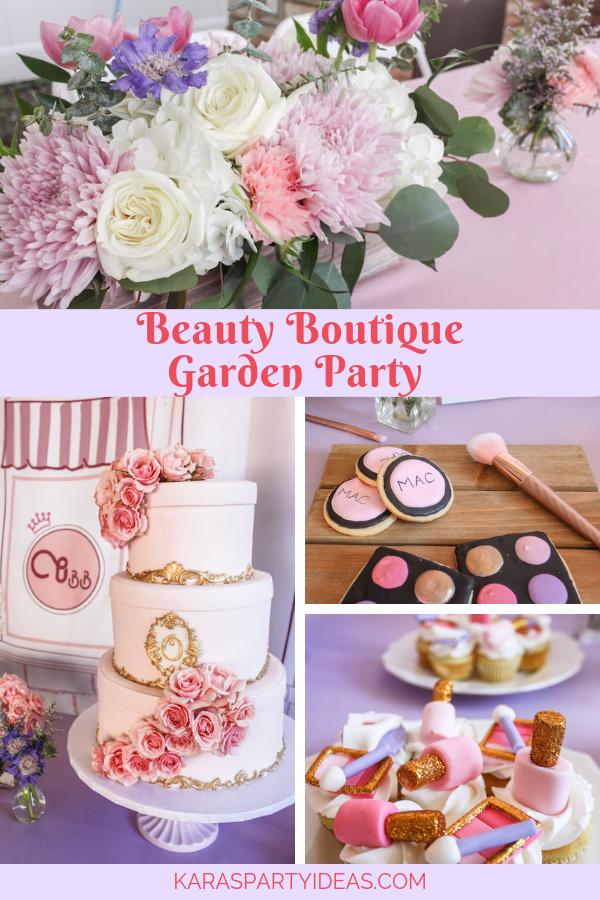 Beauty Boutique Garden Party via Kara's Party Ideas - KarasPartyIdeas.com