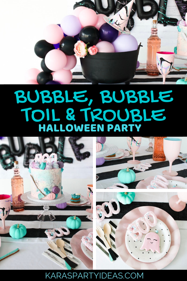 Bubble, Bubble Toil & Trouble Halloween Party via Kara's Party Ideas - KarasPartyIdeas.com