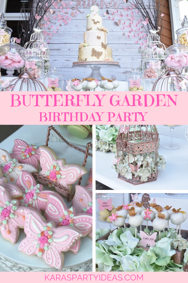 Butterfly Garden Birthday Party via Kara's Party Ideas - KarasPartyIdeas.com