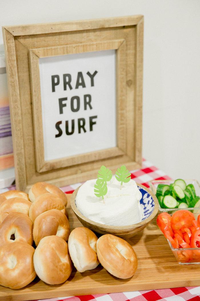 Pray For Surf Food Table from a California Dreamin' Birthday Bash on Kara's Party Ideas | KarasPartyIdeas.com (17)
