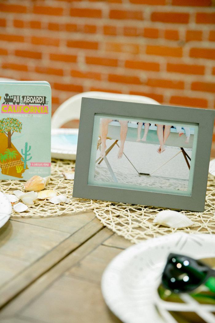 Tropical Table Decor from a California Dreamin' Birthday Bash on Kara's Party Ideas | KarasPartyIdeas.com (13)