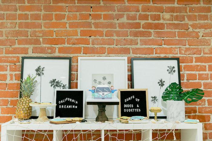 Surfs Up Cake Table from a California Dreamin' Birthday Bash on Kara's Party Ideas | KarasPartyIdeas.com (10)