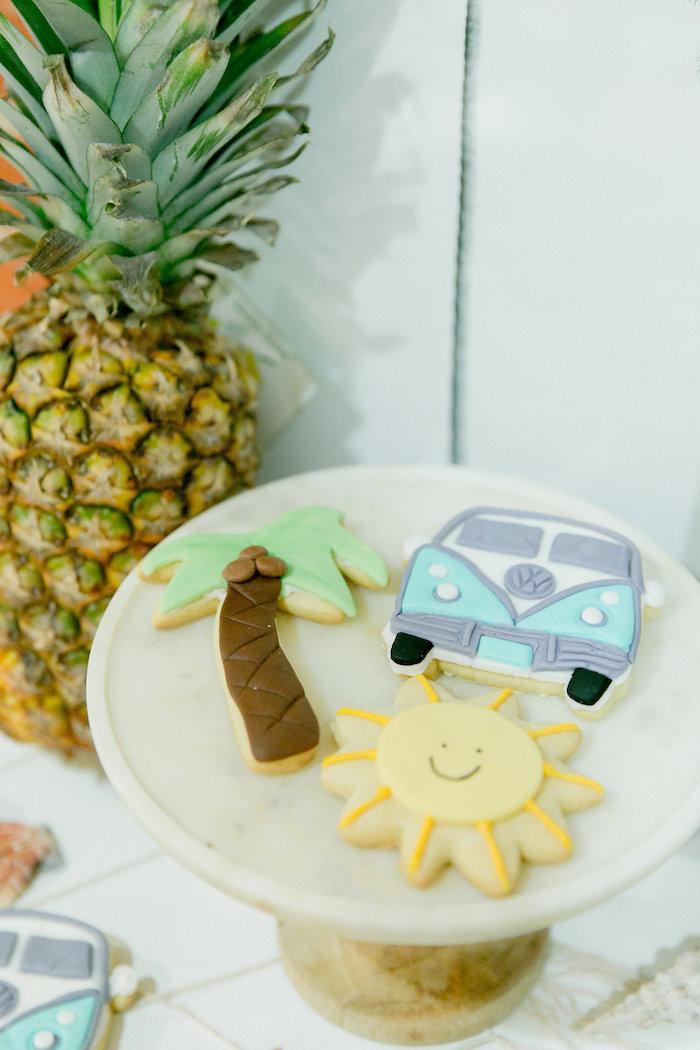 Tropical Sugar Cookies from a California Dreamin' Birthday Bash on Kara's Party Ideas | KarasPartyIdeas.com (8)