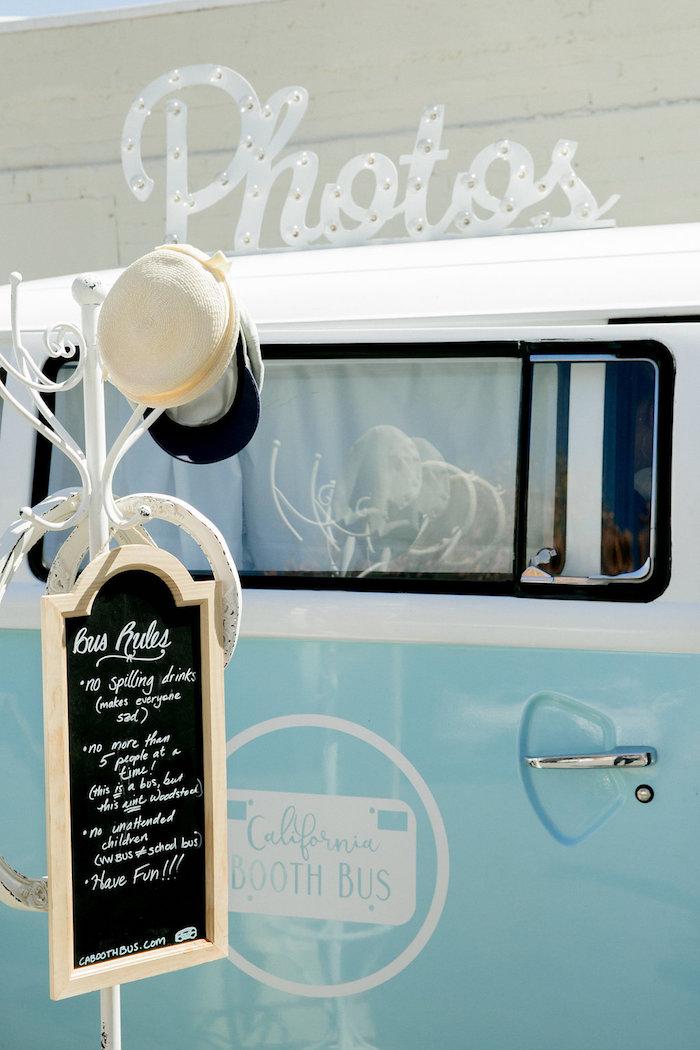 VW Van Photo Booth from a California Dreamin' Birthday Bash on Kara's Party Ideas | KarasPartyIdeas.com (6)