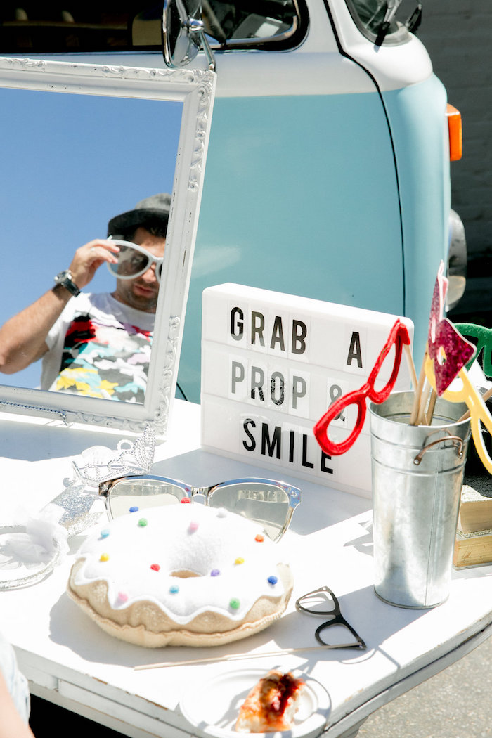 Photo Booth Prop Table from a California Dreamin' Birthday Bash on Kara's Party Ideas | KarasPartyIdeas.com (5)