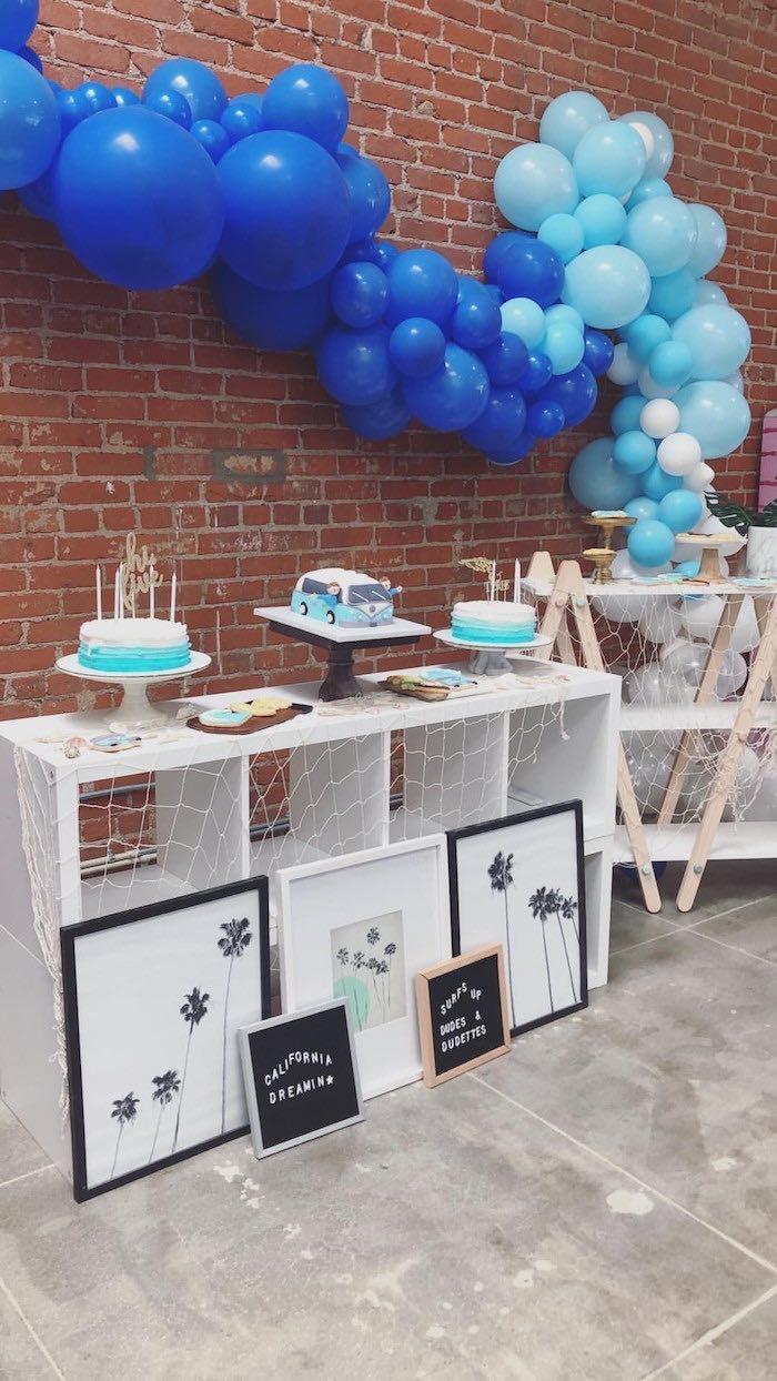 California Dreamin' Cake Table from a California Dreamin' Birthday Bash on Kara's Party Ideas | KarasPartyIdeas.com (27)