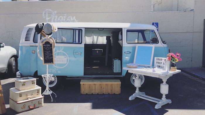 Vintage VW Van Photo Booth from a California Dreamin' Birthday Bash on Kara's Party Ideas | KarasPartyIdeas.com (26)