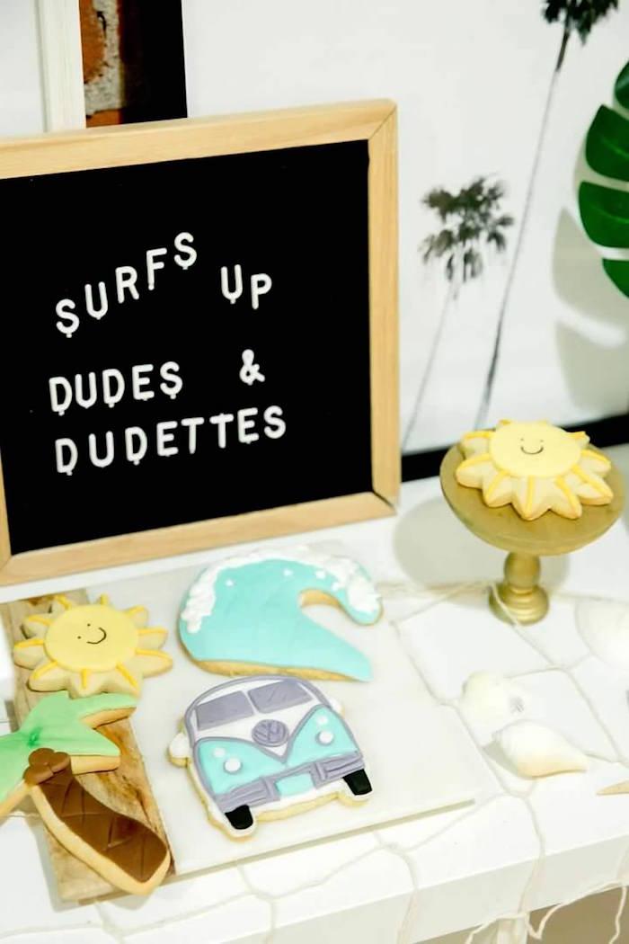Surfs Up Cookies from a California Dreamin' Birthday Bash on Kara's Party Ideas | KarasPartyIdeas.com (24)