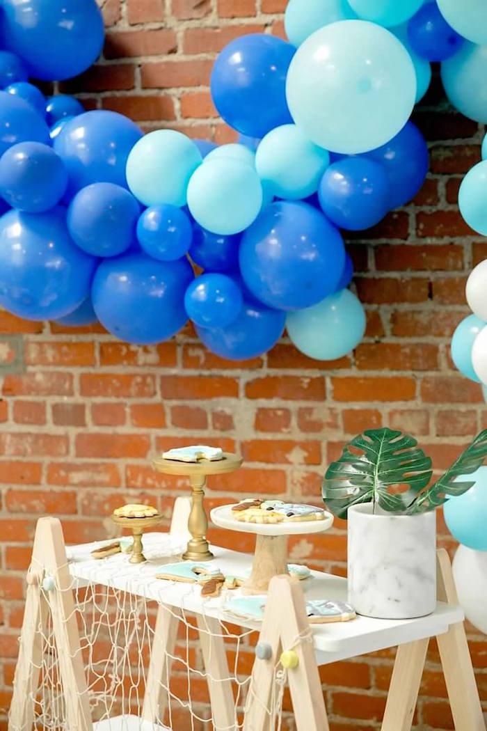 Tropical Dessert Table from a California Dreamin' Birthday Bash on Kara's Party Ideas | KarasPartyIdeas.com (20)