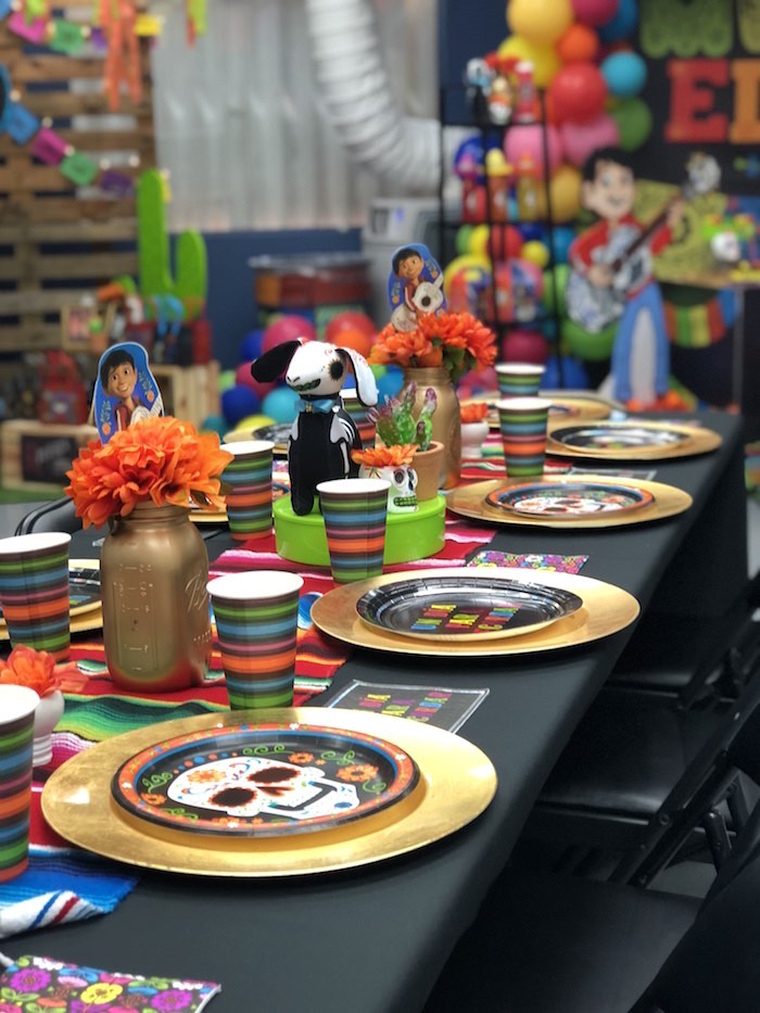 Day of the Dead Party + Guest Table from a Coco Inspired Birthday Fiesta on Kara's Party Ideas | KarasPartyIdeas.com (16)