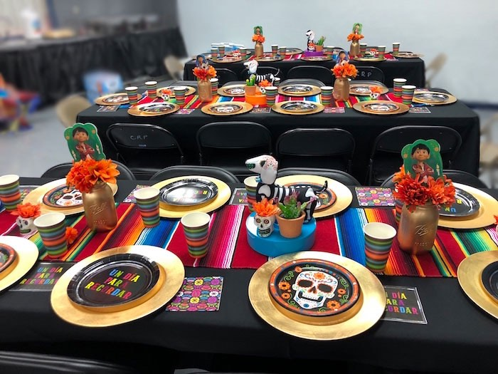 Day of the Dead Party + Guest Tables from a Coco Inspired Birthday Fiesta on Kara's Party Ideas | KarasPartyIdeas.com (14)