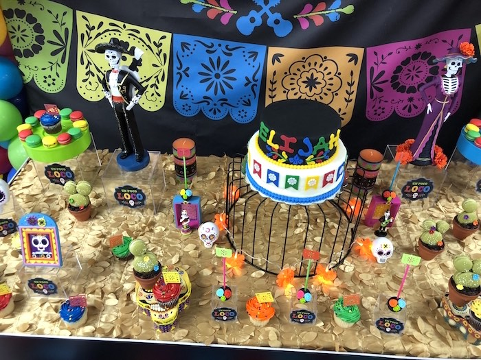 Coco-inspired Dessert Table from a Coco Inspired Birthday Fiesta on Kara's Party Ideas | KarasPartyIdeas.com (11)