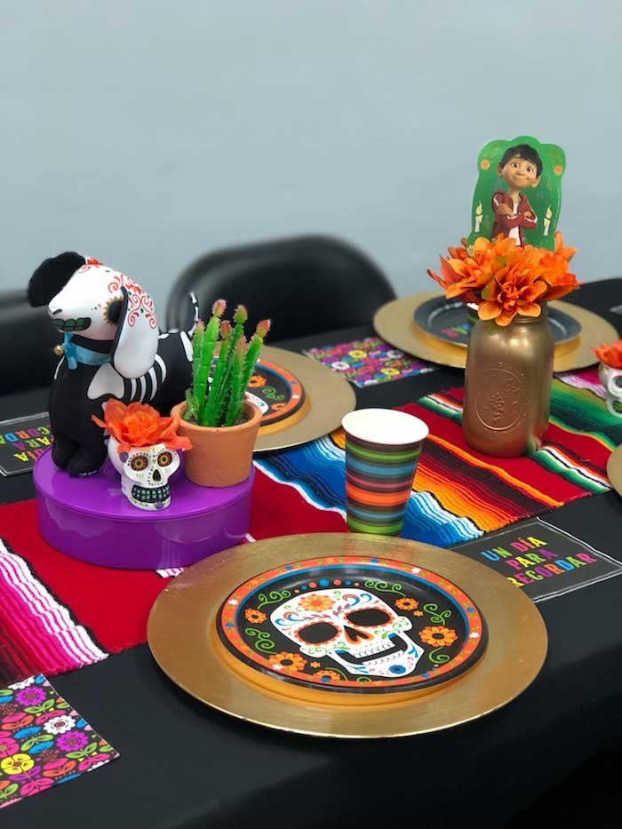 Day of the Dead (Día de Muertos) Fiesta Party Table from a Coco Inspired Birthday Fiesta on Kara's Party Ideas | KarasPartyIdeas.com (7)