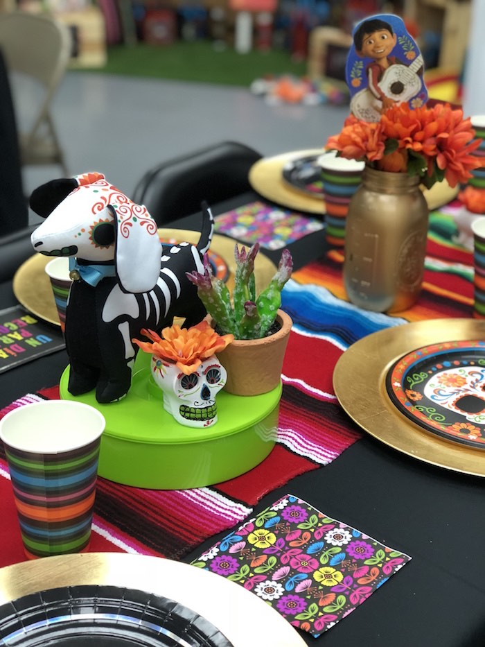 Day of the Dead (Día de Muertos) Fiesta Party Table from a Coco Inspired Birthday Fiesta on Kara's Party Ideas | KarasPartyIdeas.com (6)