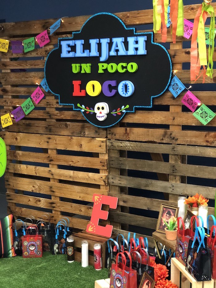 Pallet Board Ofrenda Backdrop from a Coco Inspired Birthday Fiesta on Kara's Party Ideas | KarasPartyIdeas.com (24)