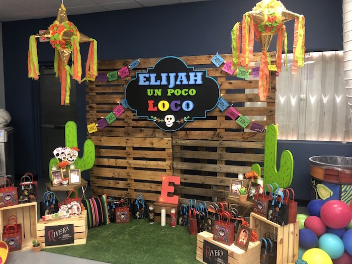 Pallet Board Ofrenda Backdrop from a Coco Inspired Birthday Fiesta on Kara's Party Ideas | KarasPartyIdeas.com (23)