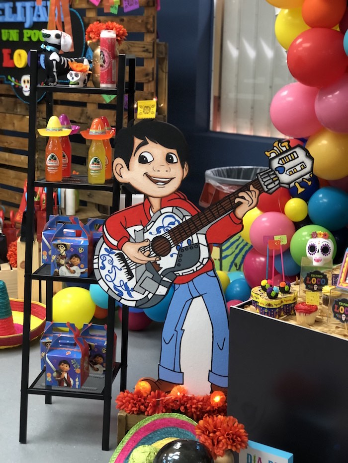 Miguel Standee from a Coco Inspired Birthday Fiesta on Kara's Party Ideas | KarasPartyIdeas.com (21)