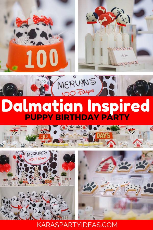 Dalmatian Inspired Puppy Birthday Party via Kara's Party Ideas - KarasPartyIdeas.com