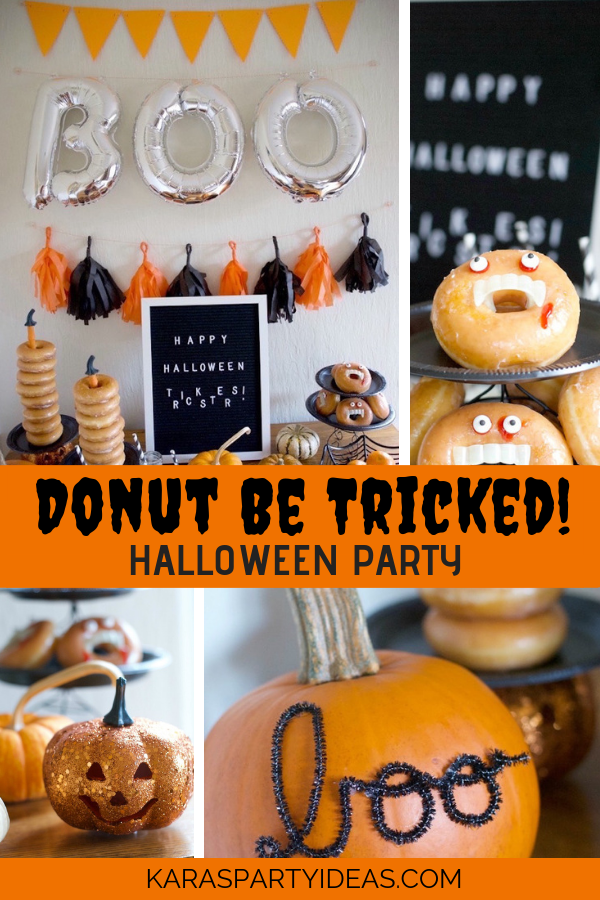 Donut Be Tricked Halloween Party via Kara's Party Ideas - KarasPartyIdeas.com