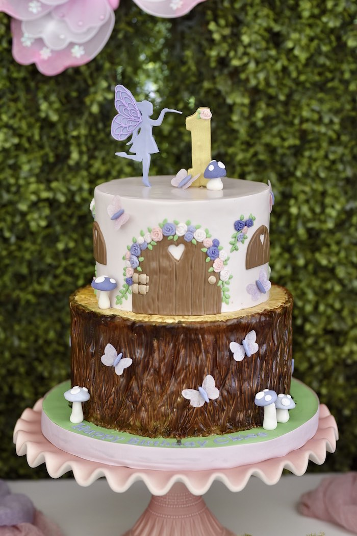 Enchanted Fairy Forest First Birthday Party on Kara's Party Ideas | KarasPartyIdeas.com (16)