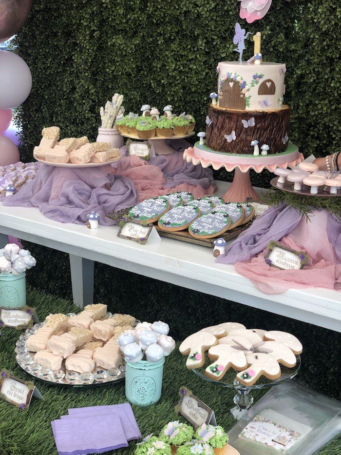 Enchanted Fairy Forest First Birthday Party on Kara's Party Ideas | KarasPartyIdeas.com (15)